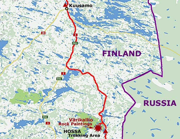 Eastern Finland Russian border and Hossa Trekking Area to Kuusamo
