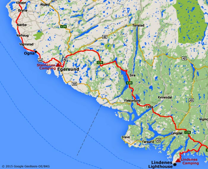 Coastal Road To Lindenes Lighthouse Norways Southernmost Point - Norway lighthouses map