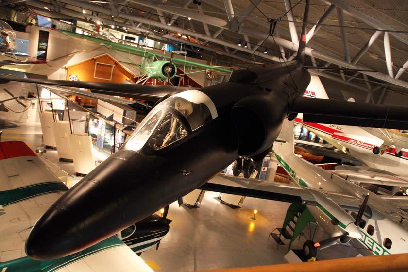 Cold War U2 high altitude spy plane displayed at Bodø