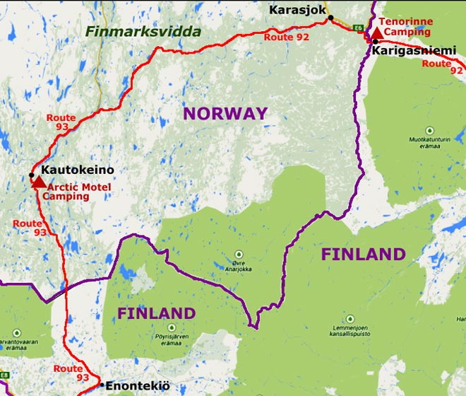 how to get to karasjok norway