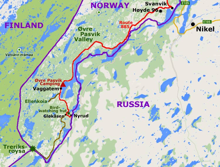 Vaggatem In The 216 Vre Pasvik Valley And 3 Countries Meeting