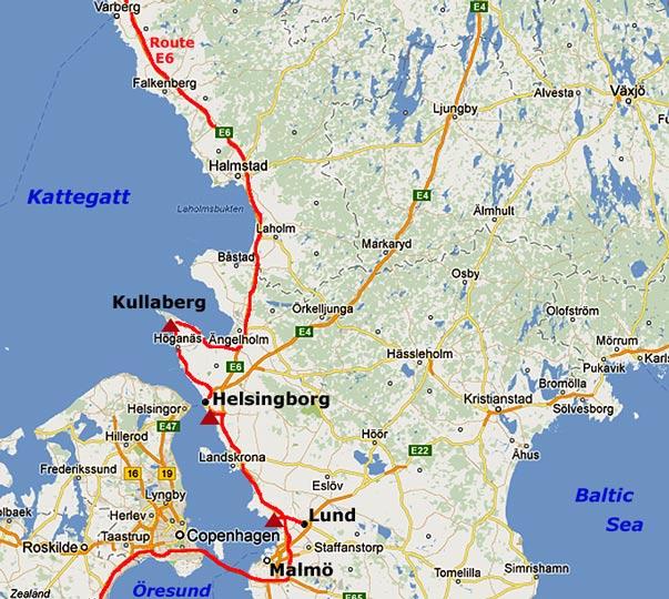 Lund Helsingborg and Kullaberg peninsula