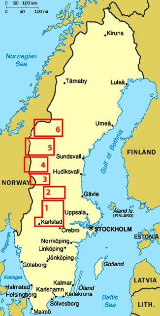 SWEDEN Weeks Travels With A VW Camper - Sweden map mora