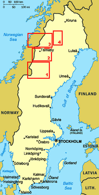 SWEDEN Weeks Travels With A VW Camper - Sweden map varmland