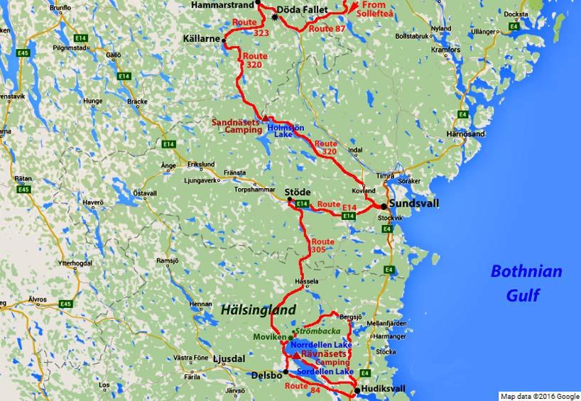 Sundsvall Hudiksvall And Hälsingland - Sweden map sundsvall