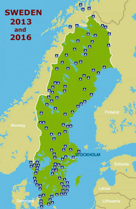 Review Of Campsites In Sweden And Lapland - Sweden lapland map